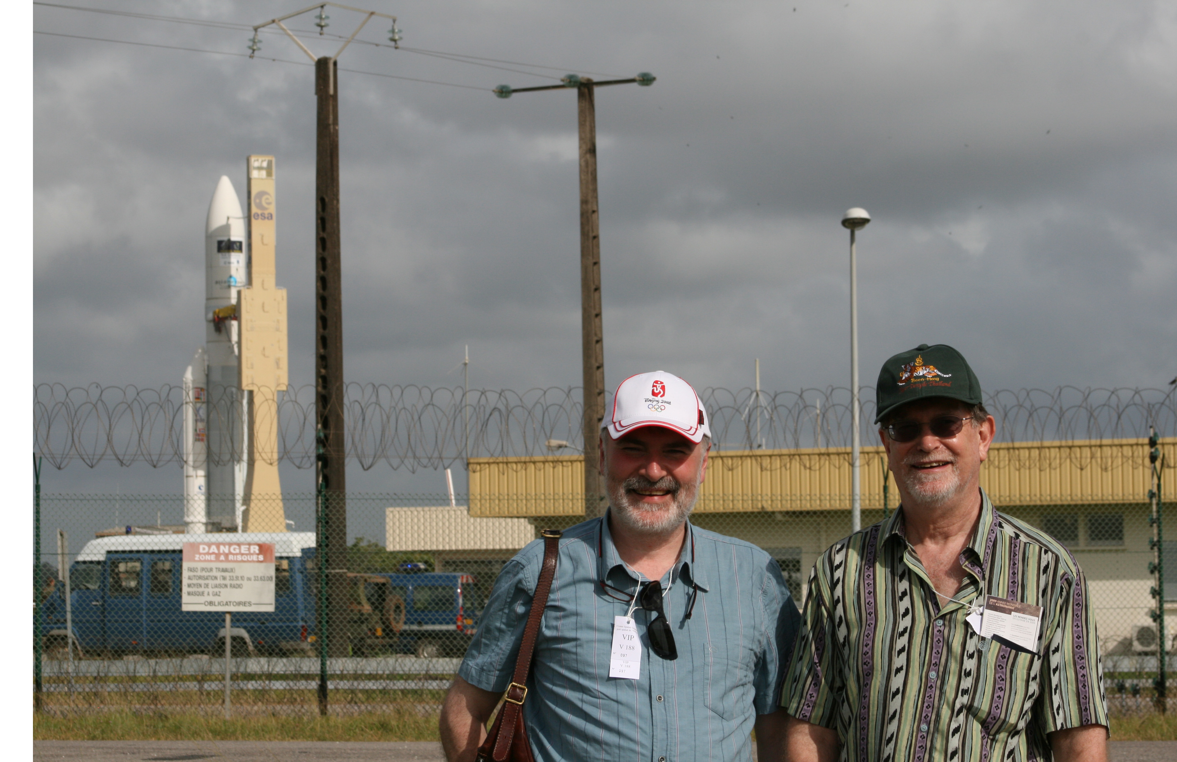 Marco Bersanelli and George Smoot were on hand to watch the launch of the Planck mission from the ESA's base in French Guiana. With Reno Mandolesi, Bersanelli and Smoot proposed one of the satellites that evolved into Planck.