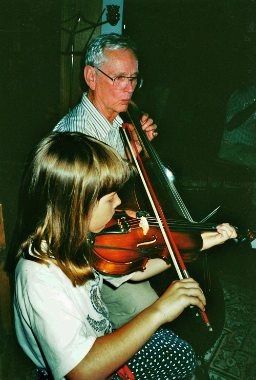 Ken Crowe with daughter Laura, 1990s (Courtesy Peter Kammel)