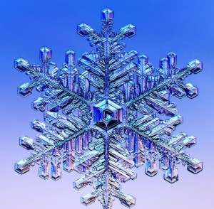 Like the formation of a snowflake, the growth of every crystal is unique, but researchers at Berkeley Lab's crystal growth facility seek to make crystal growth more exact with reproducible processes. (Image from Caltech)