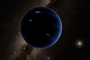 Image - The public is now invited to participate in the hunt for a hypothetical ninth planet in our solar system, dubbed Planet Nine. This image shows an artist's concept of how Planet Nine may appear—if it exists. (Credit: NASA)