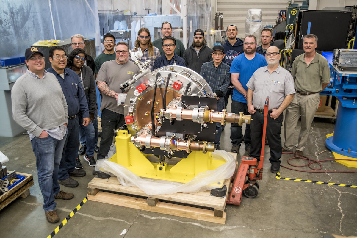 Photo - Members of the LCLS-II injector gun team at Berkeley Lab. (Credit: Marilyn Chung/Berkeley Lab)