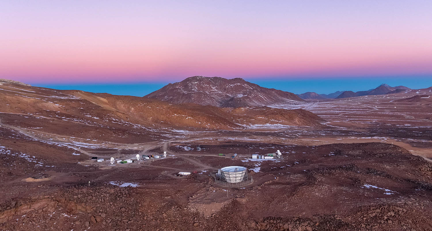 The site of Simons Observatory in the Atacama Desert in Chile.